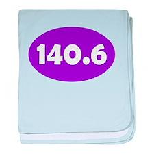 Purple 140.6 Oval baby blanket