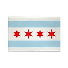 Chicago Flag Rectangle Magnet