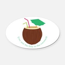 Lime In Coconut Oval Car Magnet