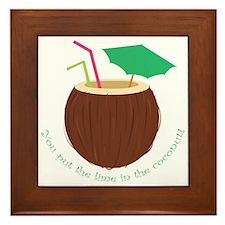 Lime In Coconut Framed Tile