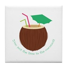 Lime In Coconut Tile Coaster