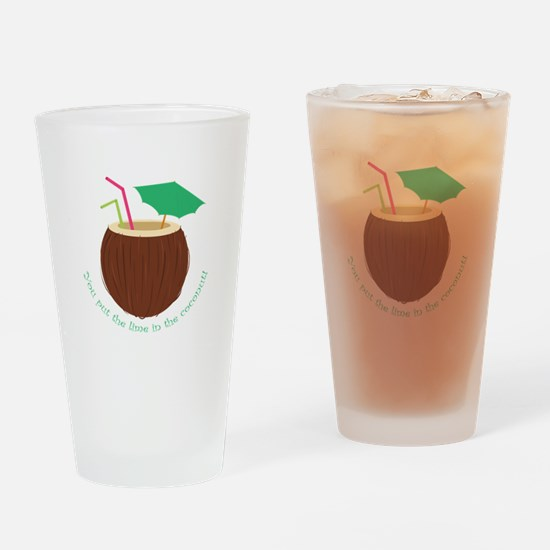 Lime In Coconut Drinking Glass