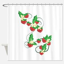Strawberry Vine Shower Curtain