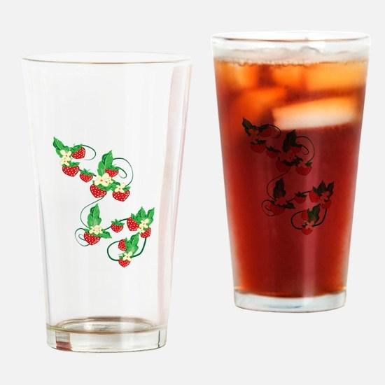 Strawberry Vine Drinking Glass