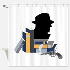 Mystery Books Shower Curtain