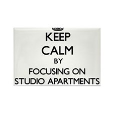 Keep Calm by focusing on Studio Apartments Magnets