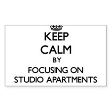Keep Calm by focusing on Studio Apartments Decal