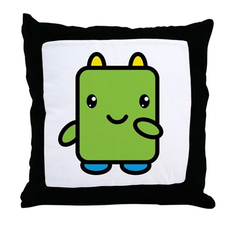 Small Green Throw Pillow : Little Green Dude Throw Pillow by cooltshirtstore