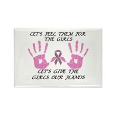 Breast Cancer is a Hands on Thing Glitter Magnets