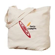 Darts Champion Tote Bag