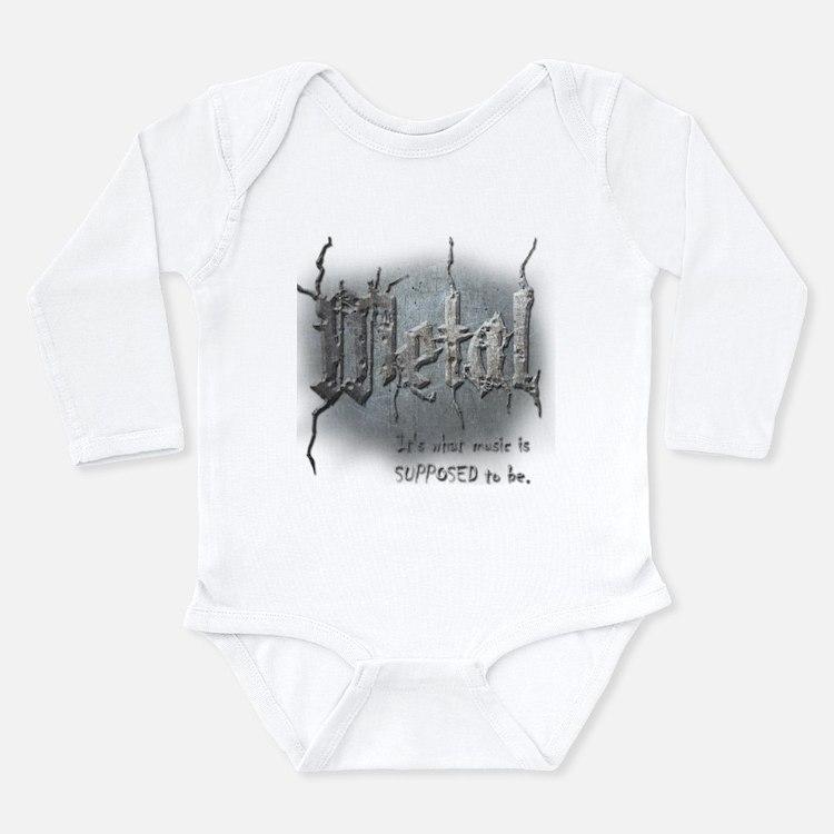 Metal Long Sleeve Infant Bodysuit
