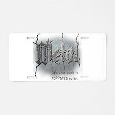 Metal Aluminum License Plate