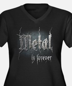 Metal 2 Women's Plus Size V-Neck Dark T-Shirt