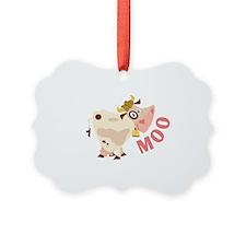 Moo Ornament