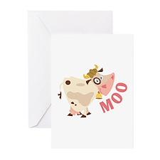 Moo Greeting Cards