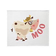 Moo Throw Blanket