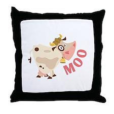 Moo Throw Pillow
