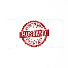 World's Best Husband Aluminum License Plate