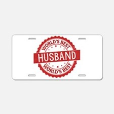 World's Best Husband Aluminum License Plate