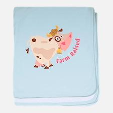 Farm Raised baby blanket