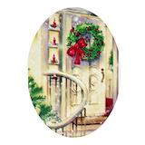 Christmas tree Oval Ornaments
