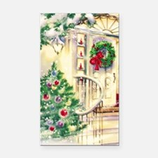 Vintage Christmas House Rectangle Car Magnet