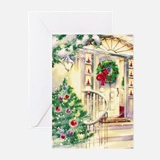 Vintage Christmas House Greeting Cards