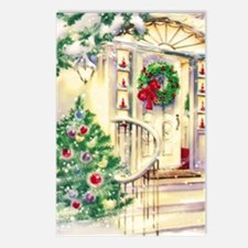 Vintage Christmas House Postcards (Package of 8)