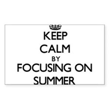 Keep Calm by focusing on Summer Decal