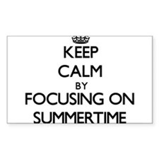 Keep Calm by focusing on Summertime Decal