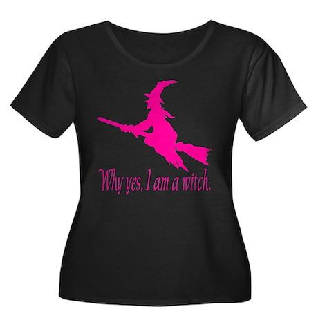 Pink I am Women's Plus Size Scoop Neck Dark T-Shir