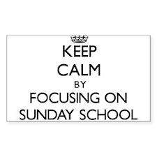 Keep Calm by focusing on Sunday School Decal
