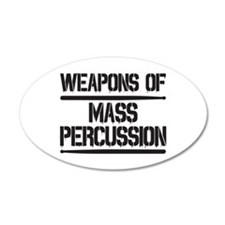 Weapons of Mass Percussion Wall Decal