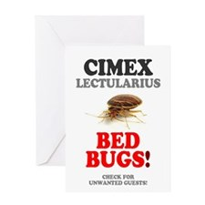 BED BUGS - UNWANTED HOTEL GUESTS! Greeting Cards