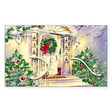 Vintage Christmas House Decal