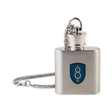 8th Infantry Division Flask Necklace