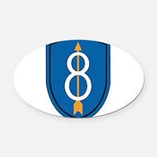 8th Infantry Division Oval Car Magnet