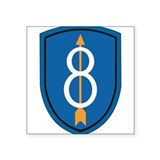 8th infantry division sticker Square
