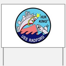 DD-446 USS Radford US NAVY Destroyer Mil Yard Sign