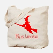 Red I am Tote Bag