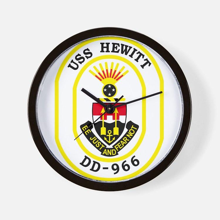 DD-966 USS HEWITT Destroyer Ship Milita Wall Clock