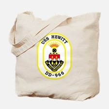 DD-966 USS HEWITT Destroyer Ship Military Tote Bag