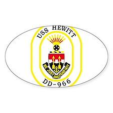 DD-966 USS HEWITT Destroyer Ship Military Decal