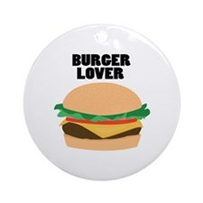 Burger Lover Ornament (Round)