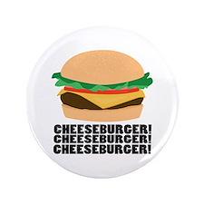 """Cheeseburger 3.5"""" Button"""