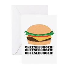 Cheeseburger Greeting Cards
