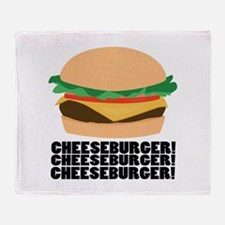 Cheeseburger Throw Blanket