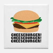 Cheeseburger Tile Coaster