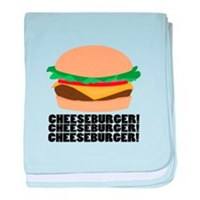Cheeseburger baby blanket