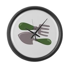 Garden Tools Large Wall Clock